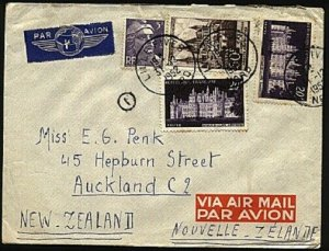 FRANCE 1952 Airmail cover to USA - nice franking...........................99195