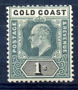 Gold Coast 1902 SG 44 1/- green & black fine mint