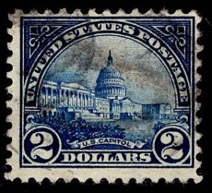 US Stamp #572 $2 US Capitol USED SCV $9.00