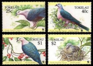 Tokelau Birds WWF Pacific Imperial Pigeon 4v SG#220-223 MI#210-213 SC#204-207