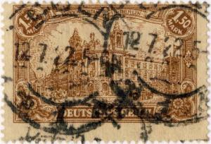 ALLEMAGNE / GERMANY / DEUTSCHLAND - 1922  CÖLN / b 1 b  CDS on Mi.114a