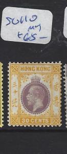 HONG KONG (PP0110B) KGV  20C  SG 110  MOG
