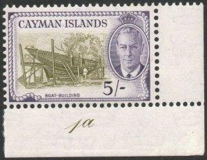 CAYMAN ISLANDS-1950 5/- Olive-Green & Violet Sg 146 UNMOUNTED MINT V46421