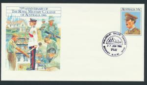 Australia PrePaid Envelope 1986 75th Anniversary Royal Military College