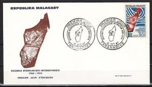 Malagasy Rep., Scott cat. 404. UNESCO-Water Cycle issue on a First day cover.