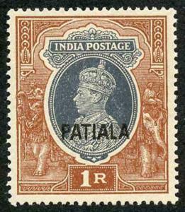 ICS PATIALA SG102 1941 top value U/M