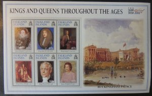 Falkland Islands 2000 kings queens stamp show exhibition royalty buckingham