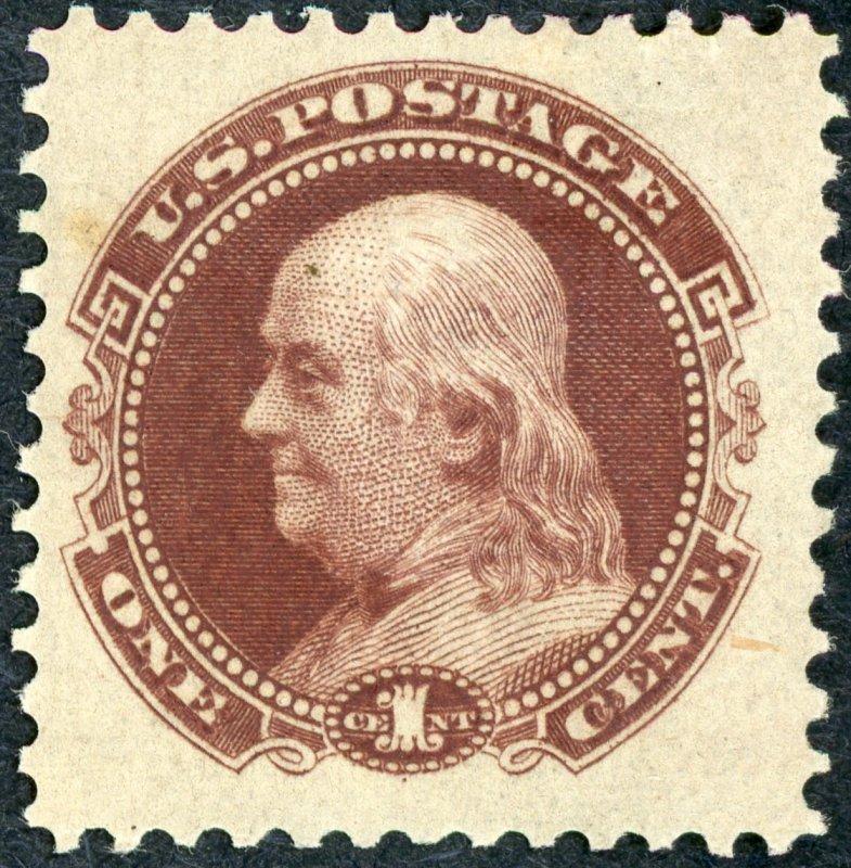 #112-E4d – 1c Plate on stamp paper. MNH OG XF Gem