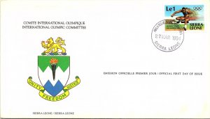 Sierra Leone, Worldwide First Day Cover, Olympics