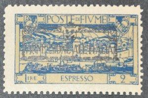 DYNAMITE Stamps: Fiume Scott #E17 – MINT