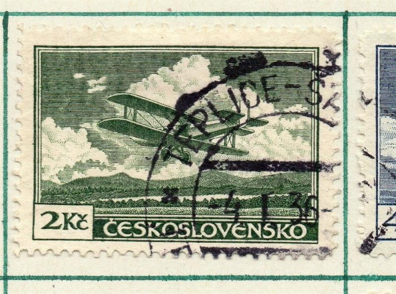 Czechoslovakia 1930 Air Early Issue Fine Used 2K. 230295
