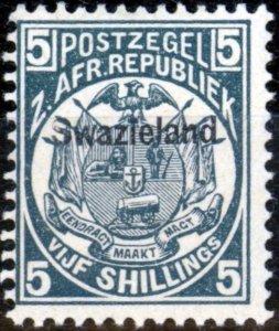 Swaziland 1890 5s Slate-Blue SG8 Fine MNH