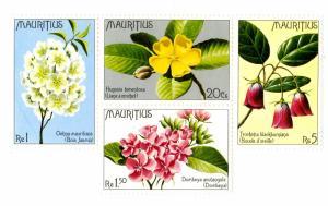 MAURITIUS439 MNH BK/4 SCV $5.50 BIN $3.00 FLOWERS