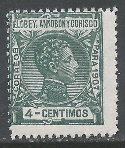 ELOBEY, ANNOBON Y CORISCO 42 MNH 176A-4