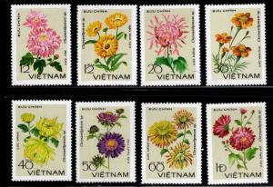 Unified Viet Nam Scott 964-971 Flower set NGAI