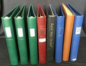 Safe Lindner Royal Mail Ring Albums x 8(7kg+)(K39