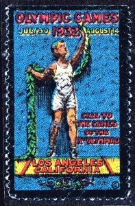 US STAMP 1932 LA Olympic Games POSTER STAMP