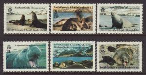 1991 South Georgia Elephant Seals Set U/M SG203/208