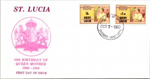 Saint Lucia, Worldwide First Day Cover, Royalty