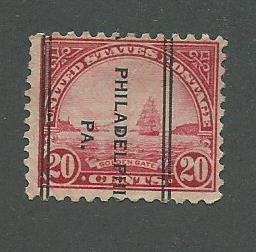 1931 USA Philadelphia, PA  Precancel on Scott Catalog Number 698