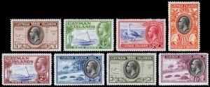 Cayman Islands Scott 85-92 (1935-36) Mint H F-VF, CV $28.60 M