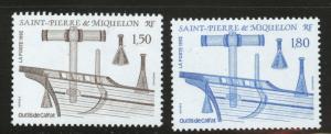 St. Pierre & Miquelon Scott 578-579 MNH** 1992 set