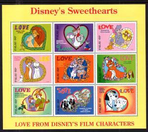 Palau 393 Disney's Souvenir Sheet MNH VF