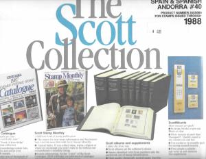 Scott Spain and Spanish Andorra #40 Supplement 1988