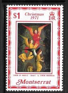 Montserrat 267: $1 Angels' Chior, MH, F-VF