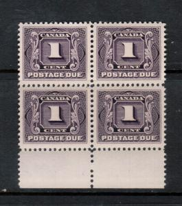 Canada #J1 Extra Fine Never Hinged Gem Block