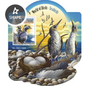 SIERRA LEONE 2015 SHEET SEABIRDS BIRDS srl15506b
