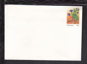 Australia Birds Postal Envelope Unused
