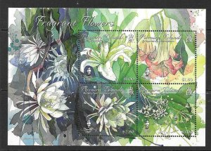 PITCAIRN ISLANDS 2019 FRAGRANT FLOWERS SHEETLET MNH