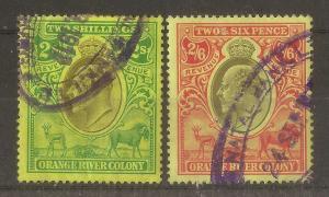 Orange River Colony 1905 2/- & 2/6d Revenues