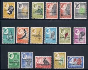 Swaziland 143-159 Mint VF LH to mostly NH