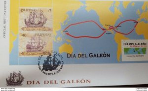 RO) 2010 PHILIPPINES, ROUTE MANILA,MEXICO,SEVILLA, DAY OF THE GALEON,  FDC XF