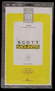 Scott/Prinz Pre-Cut Souvenir Sheets Small Panes Stamp Mounts 139x151 #1020 Black