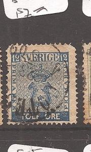 Sweden 1858 12O SC 8 VFU (2cas)