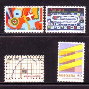 Australia  Sc 602-5 1974 Education stamp set mint NH