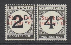 St. Lucia, Scott J12 Footnote (SG D12 Footnote), MNH