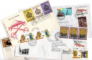 Vatican City various covers, postcard & on-piece stamps [Used]