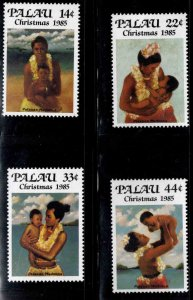 Palau Scott 90-93  MNH** Christmas 1985 stamp set