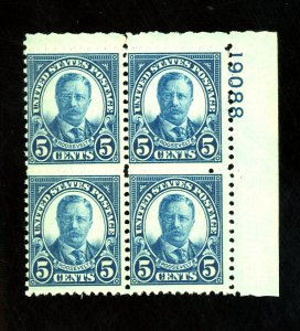 637 MINT Pl Blk FVF OG NH Cat$17.50