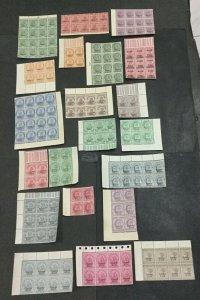 MOMEN: INDIA CHAMBA SG # 21 BLOCKS MINT OG NH LOT #198489-6044