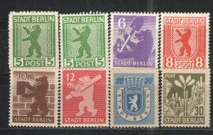 Germany - SBZ/Berlin-Brandenburg 1945 Sc# 11N1-11N7 MNH/MH VG/F Nice group