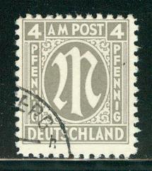 Germany AM Post Scott # 3N3a, used, variation