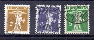 Switzerland 146-148 used