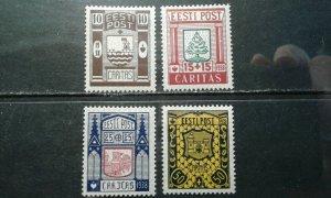 Estonia #B36-39 mint hinged e201.6424
