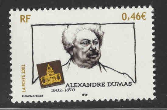 France Scott  2924  MNH** Alexandre Dumas stamp