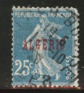 ALGERIA Scott 13 used stamp from 1924-1926